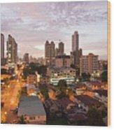 Panama City At Night Wood Print