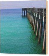 Panama City Beach Pier Wood Print by Toni Hopper