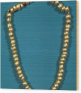 Panama: Gold Beads, C1000 Wood Print