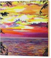 Panama.pacific Sunrise Wood Print