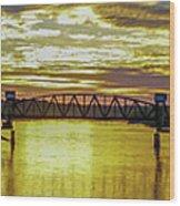 Panaroma Katy Bridge Wood Print