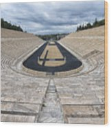 Panathenaic Stadium In Athens, Greece Wood Print