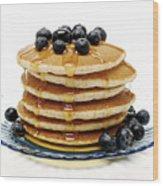 Pancakes Wood Print