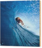 Pancho In The Tube Wood Print