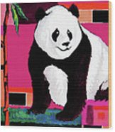 Panda Abstrack Color Vision  Wood Print