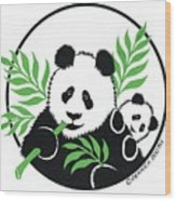 Panda Bear Wood Print