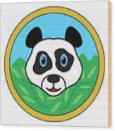 Panda Bear Head Wood Print