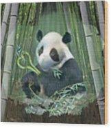 Panda Love Wood Print