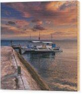 Pandanon Island Sunset Wood Print
