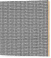 Pandora's Puzzle Greys Wood Print