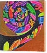 Pangea Spiral Wood Print