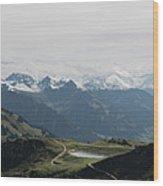 Pano Kitzbueheler Horn Wood Print