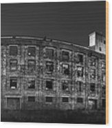 Pano Of The Fort William Starch Company At Sunset Wood Print