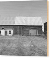 Panorama - Old Barn On 1279-hwy 57 Wood Print