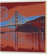 Panorama Golden Gate Bridge Landmark 2 Wood Print