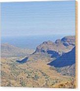 Panorama Mountain View Wood Print