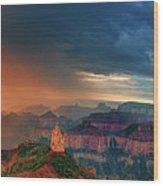 Panorama North Rim Grand Canyon Arizona Wood Print