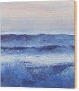 Panorama Ocean Painting Wood Print