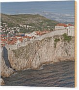 Panorama Of Dubrovnik, Croatia, In The Afternoon Wood Print