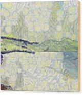 Panorama Of Landscape Wood Print