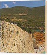 Panorama Of Porto Katsiki Famous Paradise Beach Wood Print