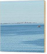 Panorama Of Quincy Bay Wood Print