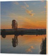 Panorama Of Sunset Wood Print