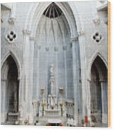 Panorama Of The Main Altar Of St. John The Evangalist Roman Catholic Church Schenectady Wood Print