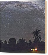 Panorama Of The Southern Night Sky Wood Print