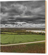 Panorama Of Wakefield's Fields Wood Print