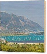 Panorama On Greek Island Wood Print