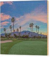Panorama Palm Springs Golfing Wood Print