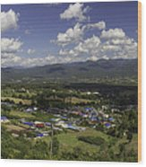 Panorama View Point Of Pai   Wood Print
