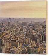 Panoramic Barcelona Wood Print
