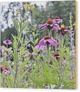 Panoramic Bouquet Wood Print