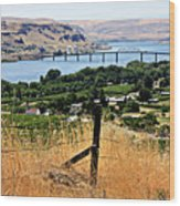 Panoramic Columbia River  Wood Print