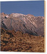 Panoramic Moon Set Alabama Hills Eastern Sierras California Wood Print
