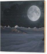 Panoramic Moonscape Wood Print