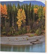Panoramic Northern River Wood Print