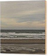 Panoramic Of Nantasket Beach Wood Print