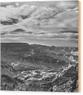 Panoramic Of The Grand Canyon Wood Print