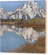 Panoramic Reflections At Oxbow Wood Print