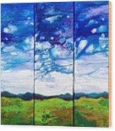 Panoramic Stormy Skies Wood Print