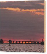 Panoramic Sunset 3-18-2016 V2 Wood Print