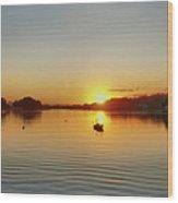 Panoramic Sunset Wood Print
