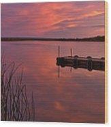 Panoramic Sunset Northern Lake Wood Print