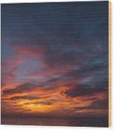 Panoramic Sunset Overtorrey Pines, San Diego Beach, California Wood Print