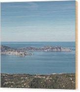 Panoramic View Across Calvi Bay And Revellata In Corsica Wood Print