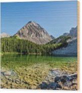 Panoramic View Of Chester Lake Wood Print