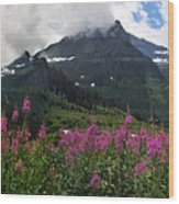 Panoramic View Of 'going To Sun Road' Wood Print